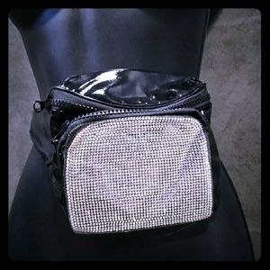 Handbags - Crystal Rhinestone Embellished Fanny Pack